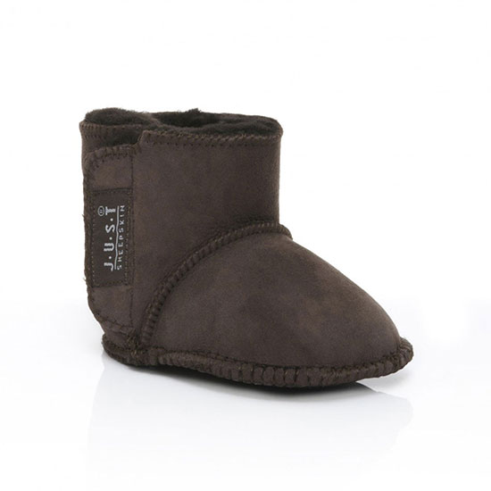 Babies Adelphi Sheepskin Booties Chocolate