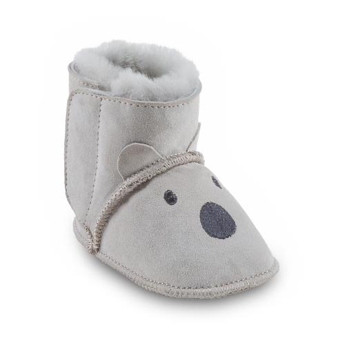 Babies Sidney Sheepskin Booties  Light Grey