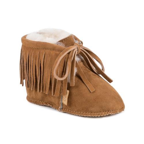 Babies Bailey Sheepskin Booties  Chestnut