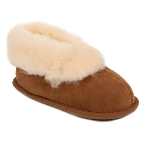 Childrens Classic Sheepskin Slippers Chestnut