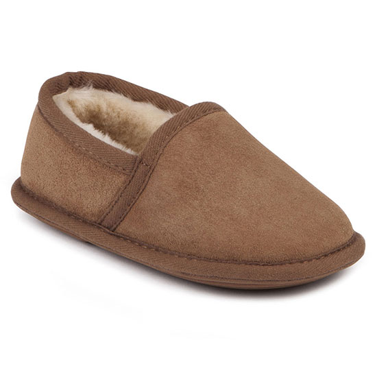 Boys Mini Garrick Sheepskin Slippers Chestnut