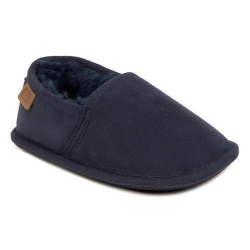 Boys Mini Garrick Sheepskin Slippers Midnight UK Size 1011