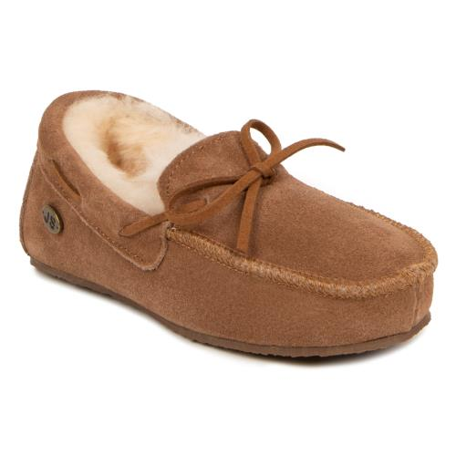 Boys Mini Torrington Sheepskin Slippers  Chestnut