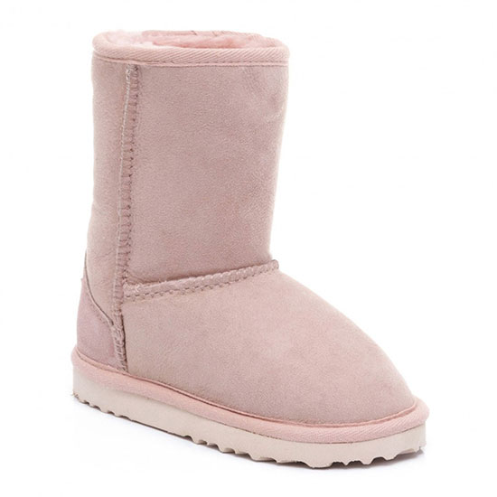 Childrens Classic Sheepskin Boots Baby Pink