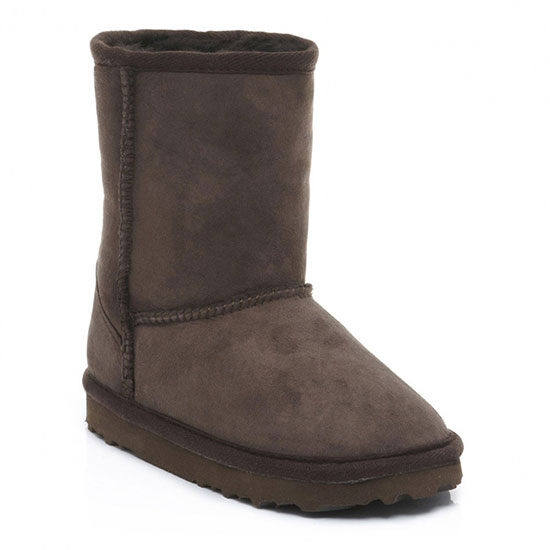 Childrens Classic Sheepskin Boots Chocolate