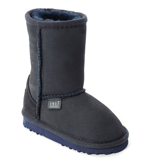 Childrens Classic Sheepskin Boots Midnight