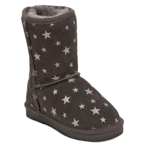 Childrens Classic Sheepskin Boot Grey Star