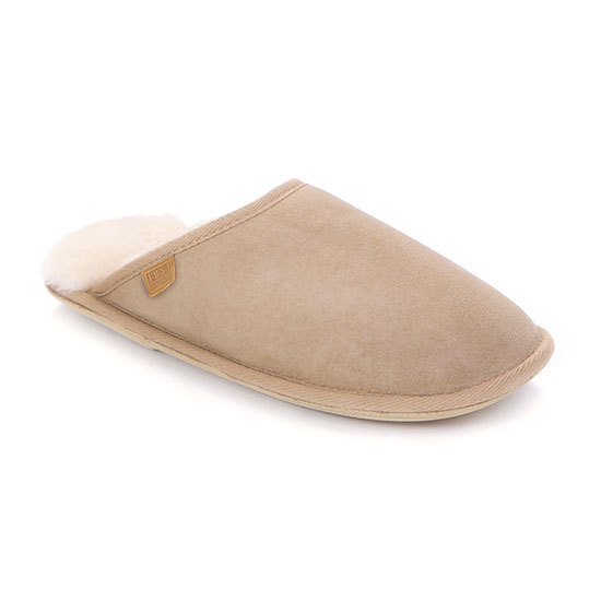 Ladies Shaftsbury Sheepskin Slippers Beige