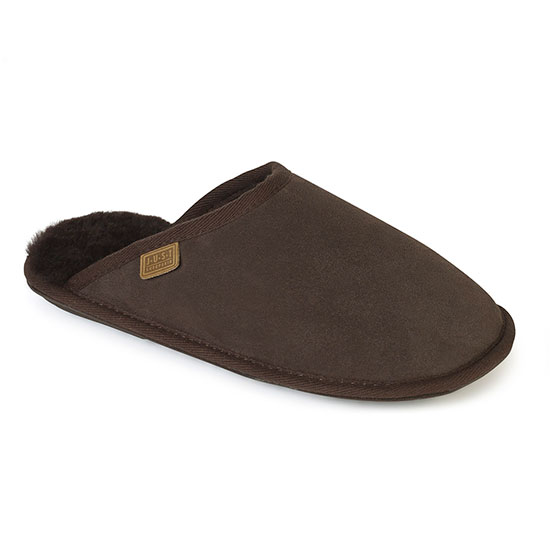 Ladies Shaftsbury Sheepskin Slippers Chocolate UK Size 56
