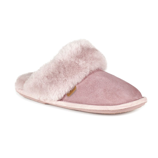 Ladies Duchess Sheepskin Slippers  Lilac