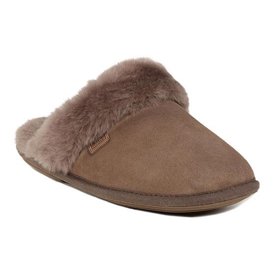 Ladies Duchess Sheepskin Slippers  Mink UK Size 56