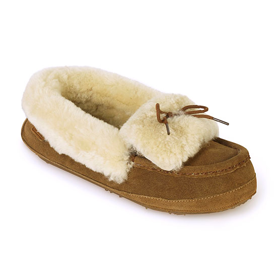 Ladies Avondale Sheepskin Slippers Chestnut UK Size 5