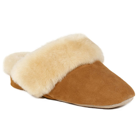 Ladies Countess Sheepskin Slippers Chestnut