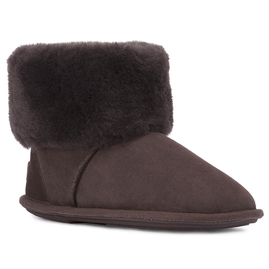 Ladies Albery Sheepskin Slippers Chocolate