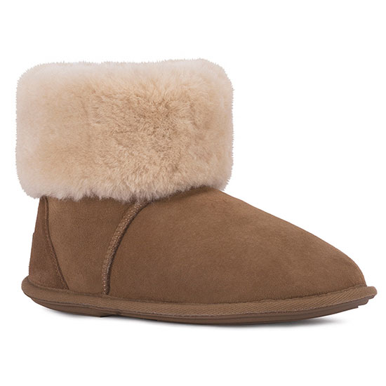 Ladies Albery Sheepskin Slippers Chestnut