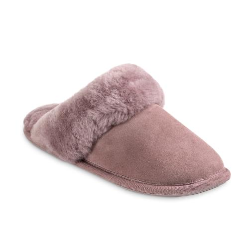 Ladies Duchess Sheepskin Slippers  Blush