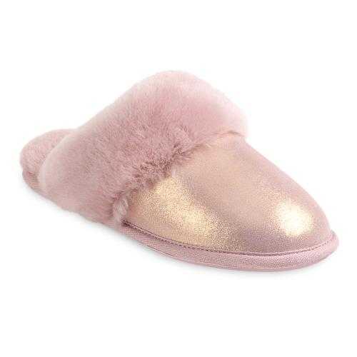 Ladies Duchess Sheepskin Slippers  Blush Sparkle