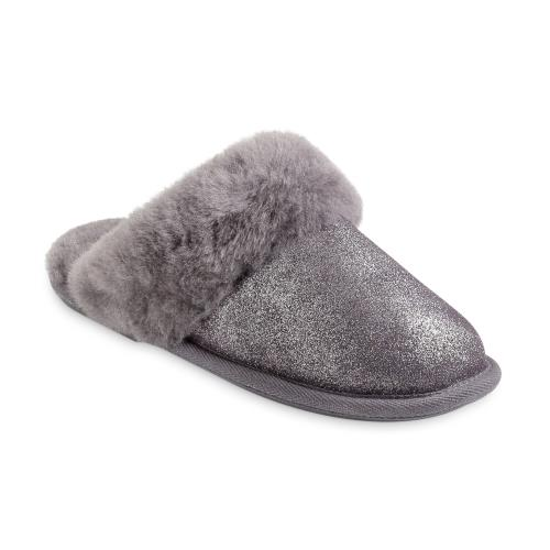 Ladies Duchess Sheepskin Slippers  Granite Sparkle