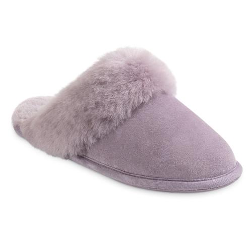 Ladies Duchess Sheepskin Slippers  Heather