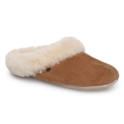 Ladies Princess Sheepskin Slipper Chestnut