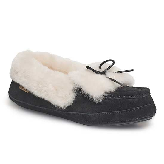 Ladies Avondale Sheepskin Slippers Black