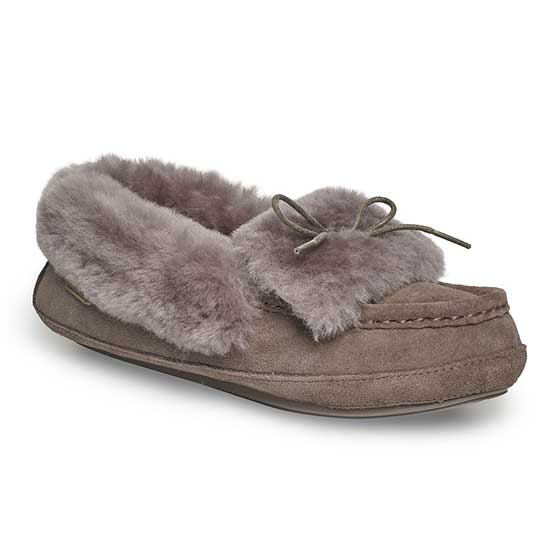 Ladies Avondale Sheepskin Slippers Mink UK Size 4