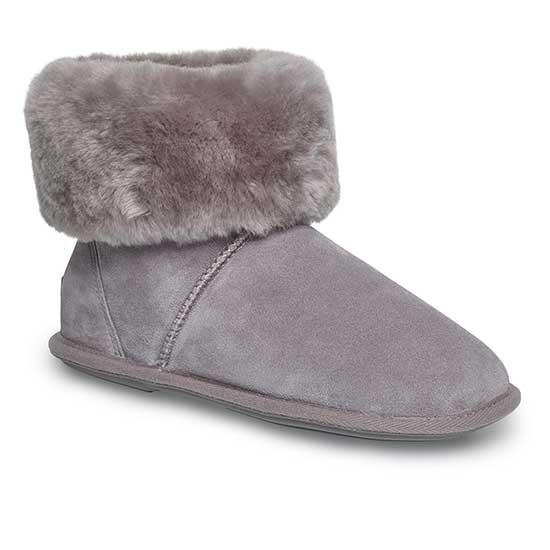 Ladies Albery Sheepskin Slippers Light Grey UK Size 34