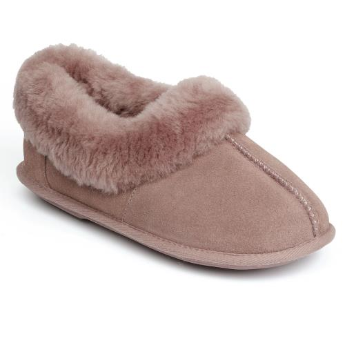 Ladies Classic Sheepskin Slippers Blush