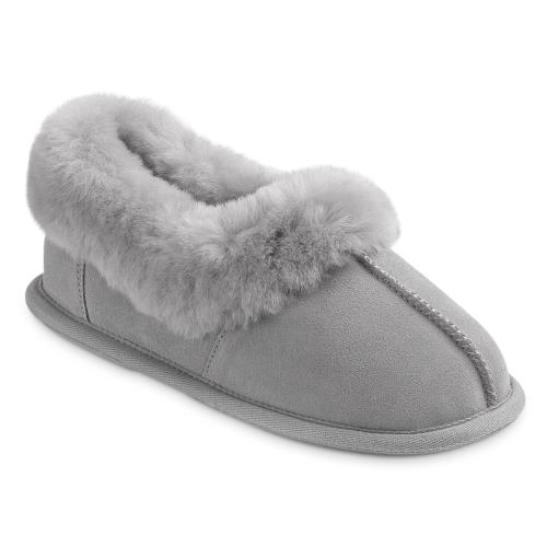 Ladies New Classic Sheepskin Slippers Light Grey