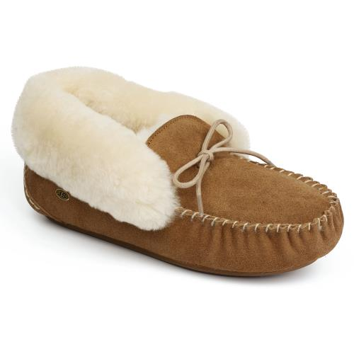 Ladies Foxley Sheepskin Slippers Chestnut