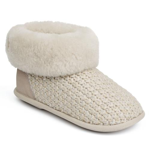 Ladies Butterfield Sheepskin Slippers Natural