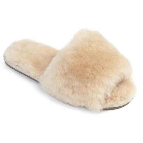 Ladies Lily Sheepskin Sliders Beige