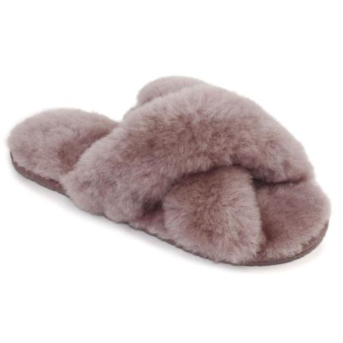 Ladies Daisy Sheepskin Sliders Blush