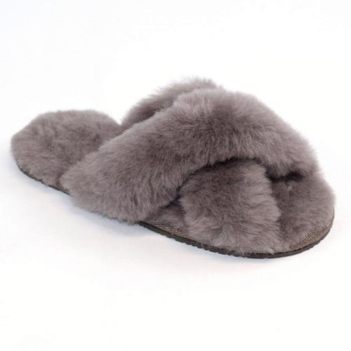 Ladies Daisy Sheepskin Sliders Mink