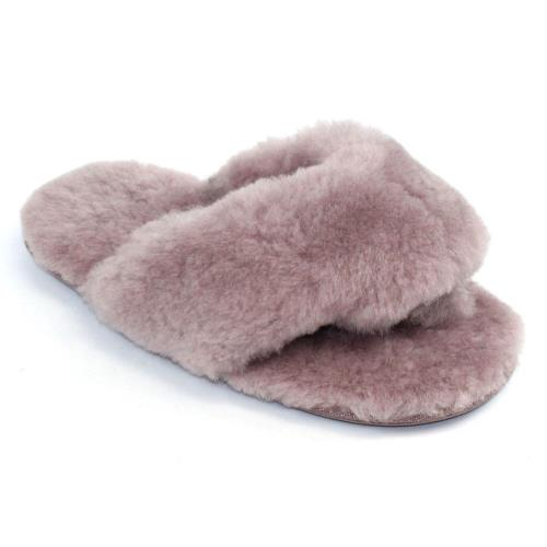 Ladies Rose Sheepskin Sliders Blush