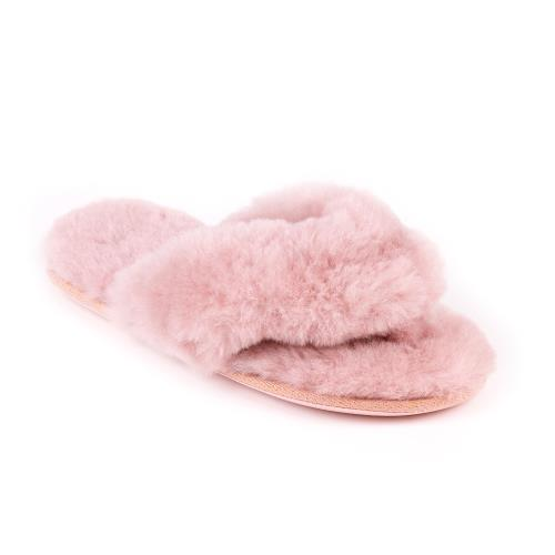 Ladies Rose Sheepskin Sliders Rose