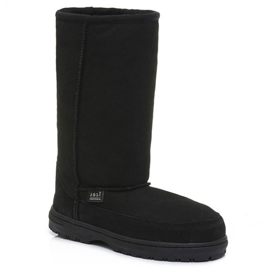 Ladies Tall Cheriton Sheepskin Boots Black