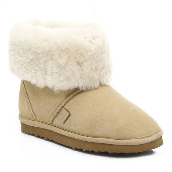 Ladies Cornwall Sheepskin Boots Beige