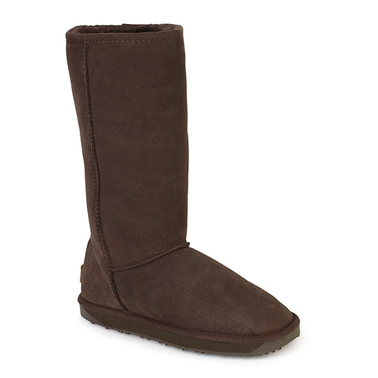 Ladies Tall Classic Sheepskin Boots Chocolate