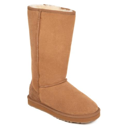 Ladies Tall Classic Sheepskin Boots Chestnut