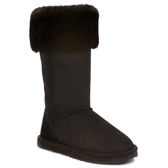 Ladies Camden Sheepskin Boots Black