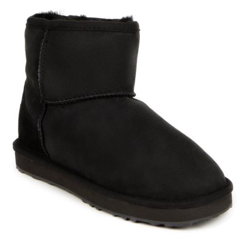 Ladies Mini Classic Sheepskin Boots Black