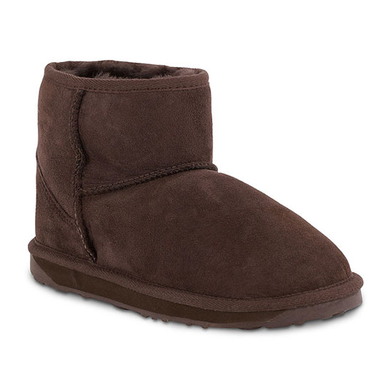 Ladies Mini Classic Sheepskin Boots Chocolate