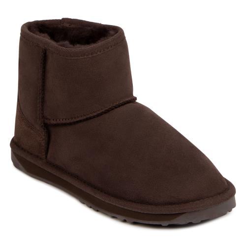 Ladies Mini Classic Sheepskin Boots Chocolate UK Size 5