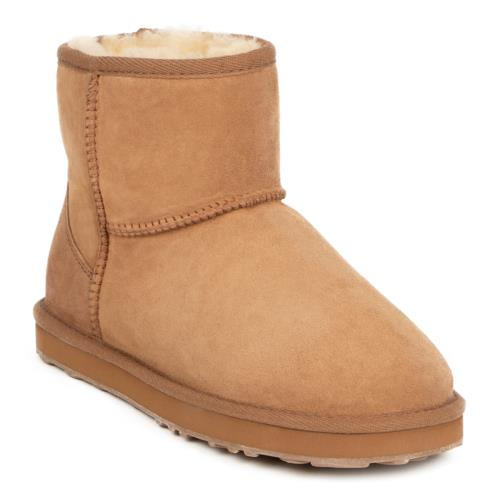 Ladies Mini Classic Sheepskin Boots Chestnut