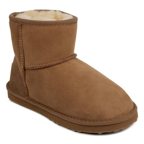 Ladies Mini Classic Sheepskin Boots Chestnut UK Size 3