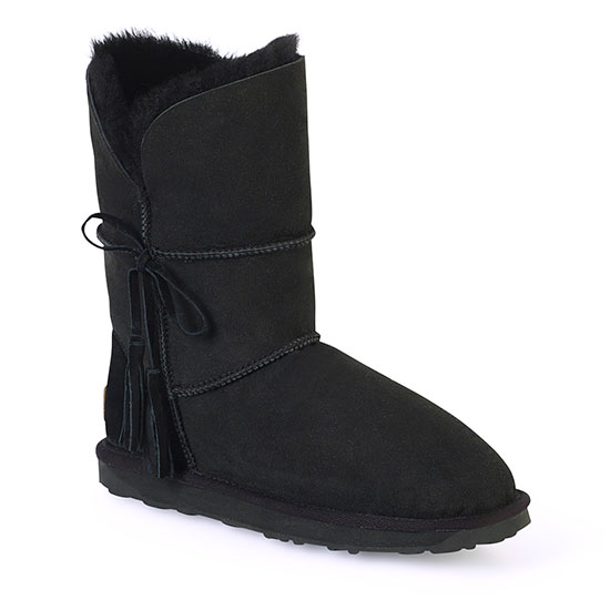 Ladies Cheshire Sheepskin Boots Black