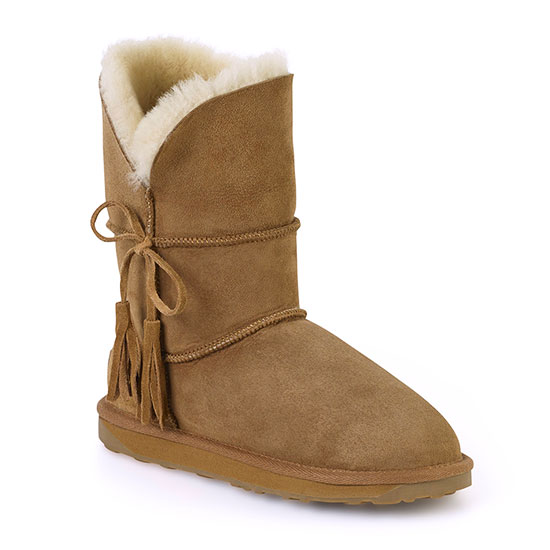 Ladies Cheshire Sheepskin Boots Chestnut