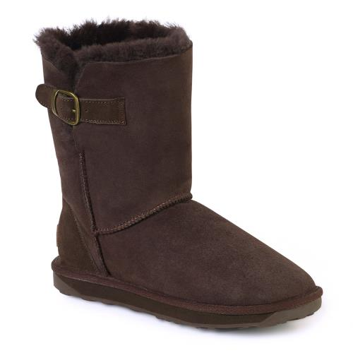 Ladies Surrey Sheepskin Boots Chocolate