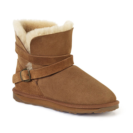 Ladies Durham Sheepskin Boots Chestnut